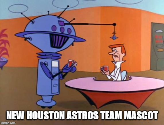 Cheater cheater pumpkin eater! | NEW HOUSTON ASTROS TEAM MASCOT | image tagged in houston astros,cheaters,candid camera | made w/ Imgflip meme maker