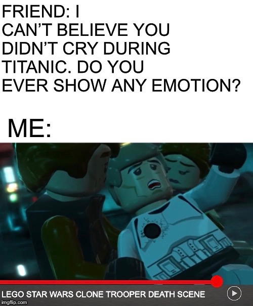 The saddest thing in the history of LEGO. | image tagged in memes,star wars,lego | made w/ Imgflip meme maker