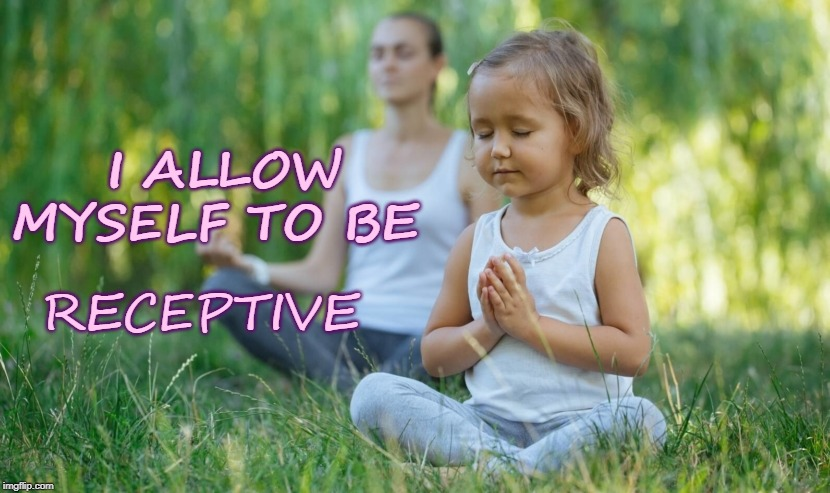 Being Receptive | I ALLOW MYSELF TO BE RECEPTIVE | image tagged in affirmation,meditation,receptive | made w/ Imgflip meme maker