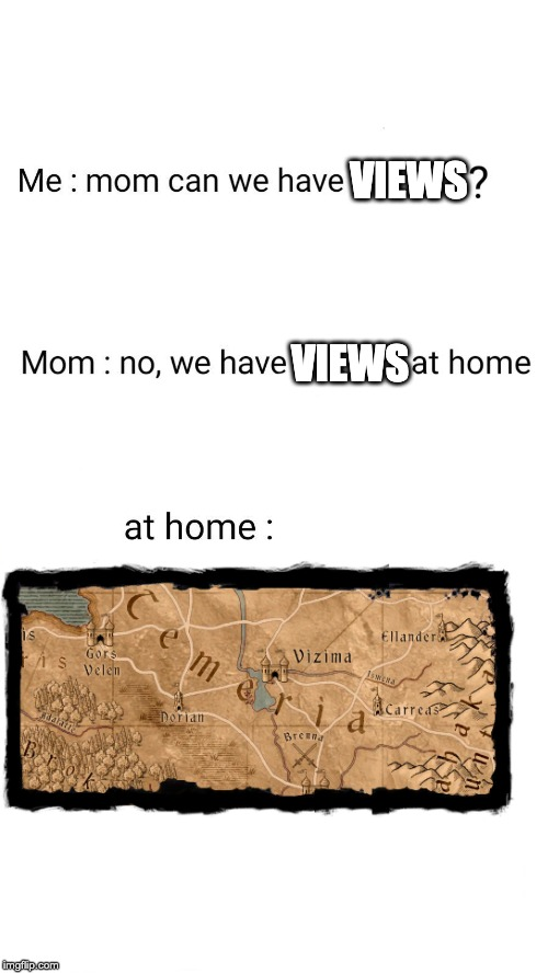 Mom at home | VIEWS VIEWS | image tagged in mom at home | made w/ Imgflip meme maker
