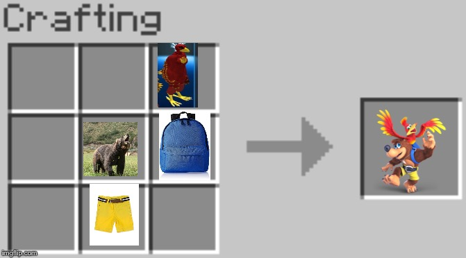 How to make Banjo-Kazooie in Minecraft. | image tagged in banjo kazooie,minecraft | made w/ Imgflip meme maker