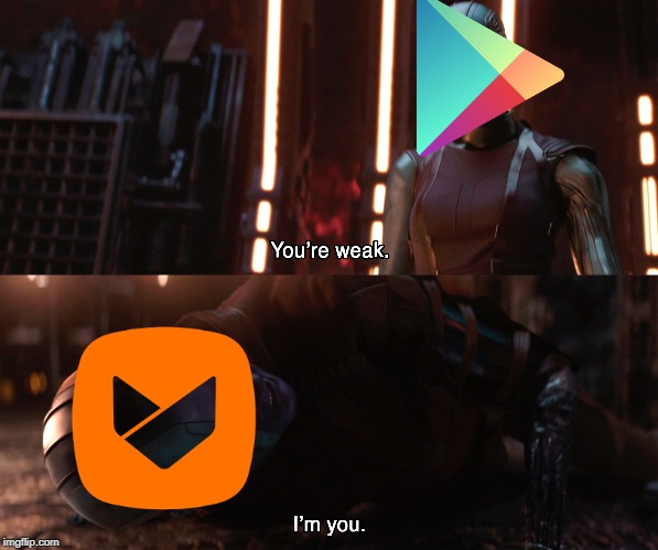 Nebula You're weak I'm you | image tagged in nebula you're weak i'm you,google,aptoide | made w/ Imgflip meme maker