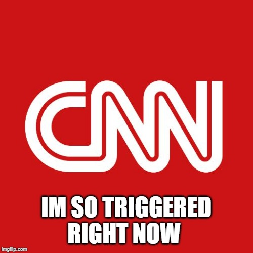 Cnn | IM SO TRIGGERED RIGHT NOW | image tagged in cnn | made w/ Imgflip meme maker