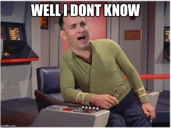 WELL I DONT KNOW | image tagged in capt forrest kirk | made w/ Imgflip meme maker