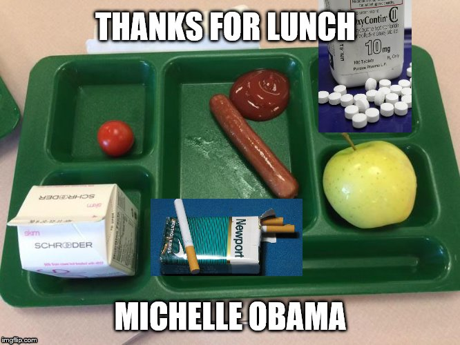 thanks for lunch michelle obama |  THANKS FOR LUNCH; MICHELLE OBAMA | image tagged in michelle obama,lunch | made w/ Imgflip meme maker