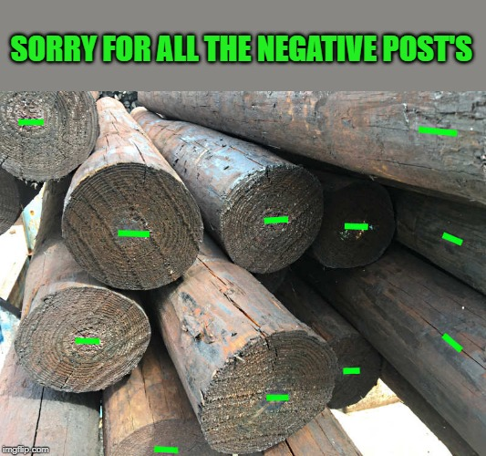 negative posts | SORRY FOR ALL THE NEGATIVE POST'S | image tagged in post,negative | made w/ Imgflip meme maker