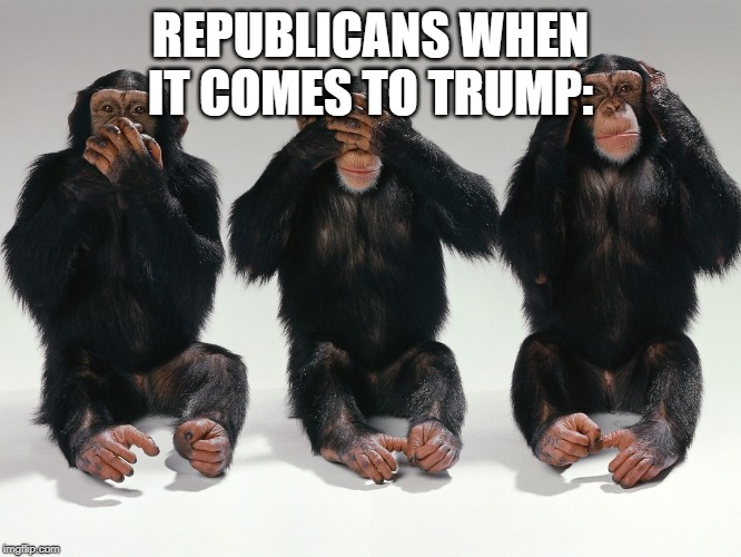 REPUBLICANS WHEN IT COMES TO TRUMP: | made w/ Imgflip meme maker
