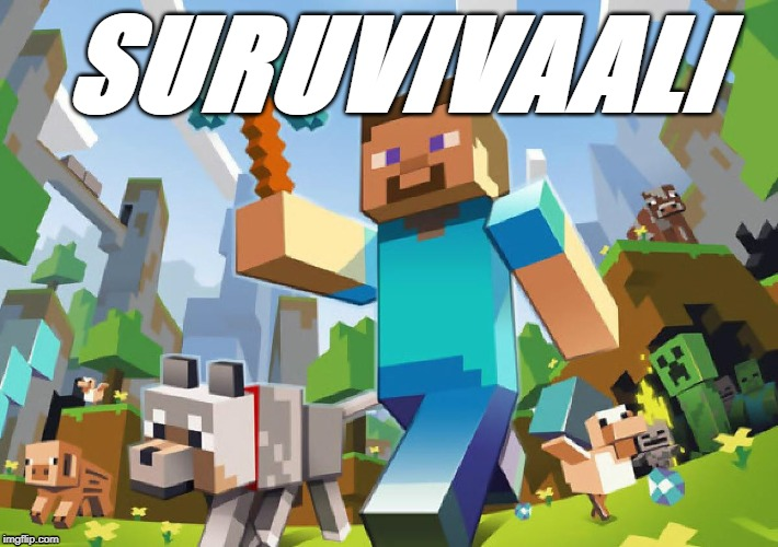 Minecraft  |  SURUVIVAALI | image tagged in minecraft | made w/ Imgflip meme maker