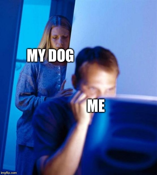 Redditor's Wife |  MY DOG; ME | image tagged in memes,redditors wife | made w/ Imgflip meme maker