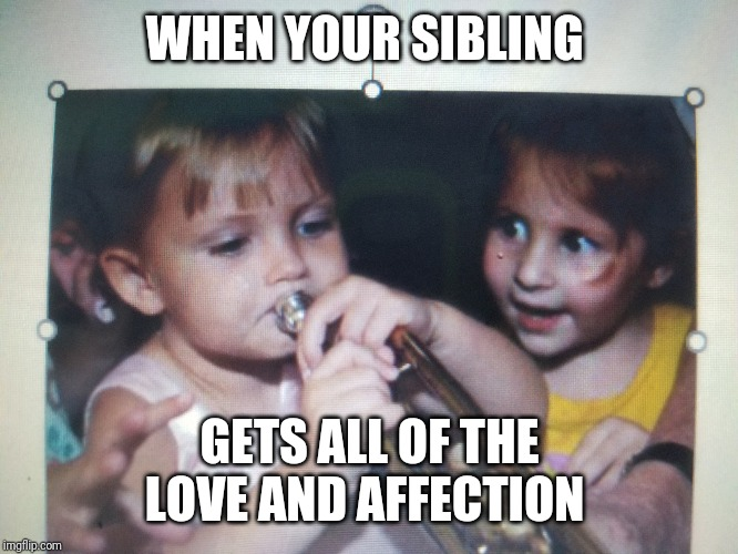 WHEN YOUR SIBLING GETS ALL OF THE LOVE AND AFFECTION | image tagged in when you realize | made w/ Imgflip meme maker