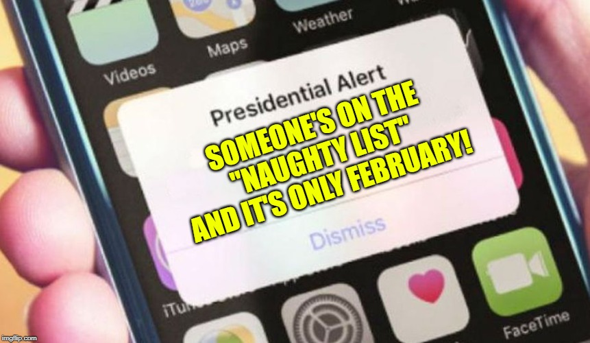 """Presidential Naughty List"" for Christmas 