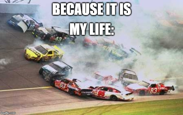 Because Race Car | BECAUSE IT IS MY LIFE: | image tagged in memes,because race car | made w/ Imgflip meme maker
