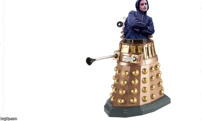 You've heard of Elf on the Shelf. Now get ready for: | image tagged in white background,memes,elf on the shelf,dank memes,dalek,sorry not sorry | made w/ Imgflip meme maker