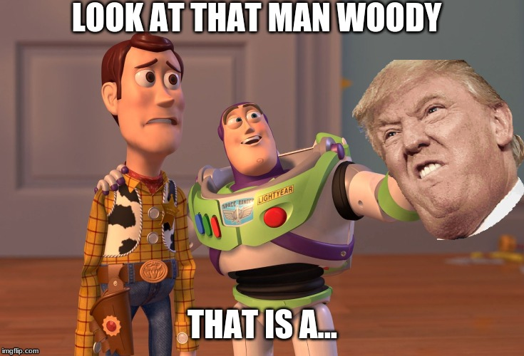 X, X Everywhere | LOOK AT THAT MAN WOODY THAT IS A... | image tagged in memes,x x everywhere | made w/ Imgflip meme maker