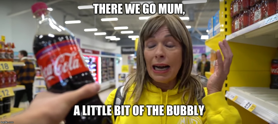 in my fair onion morgz acting is crap lol | THERE WE GO MUM, A LITTLE BIT OF THE BUBBLY | image tagged in morgz | made w/ Imgflip meme maker