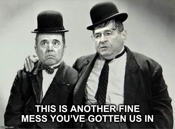 These guys are sad... | THIS IS ANOTHER FINE MESS YOU'VE GOTTEN US IN | image tagged in adam schiff,nadler,impeachment | made w/ Imgflip meme maker