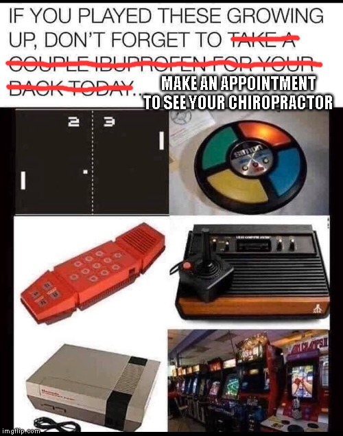 MAKE AN APPOINTMENT TO SEE YOUR CHIROPRACTOR | image tagged in chiropractor,chiropractic,nintendo | made w/ Imgflip meme maker