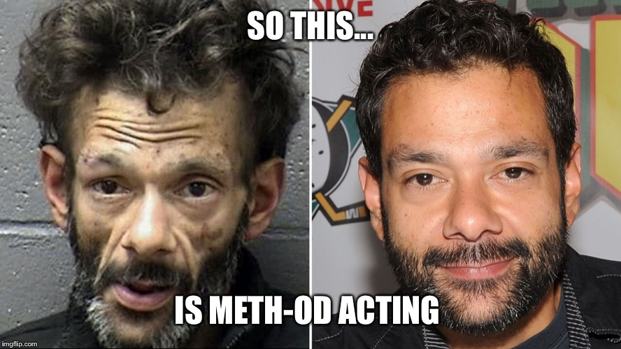 Method Man | SO THIS... IS METH-OD ACTING | image tagged in shaun weiss,meth,mugshot | made w/ Imgflip meme maker