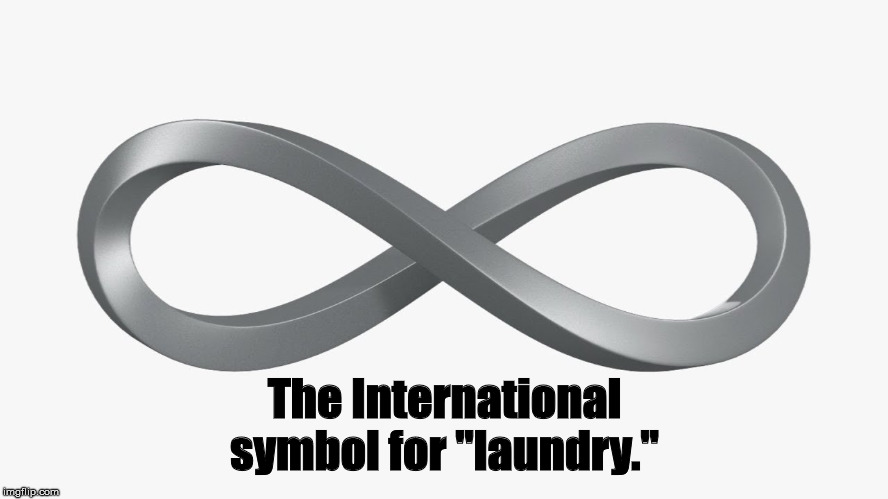 "Infinity-Laundry |  The International symbol for ""laundry."" 