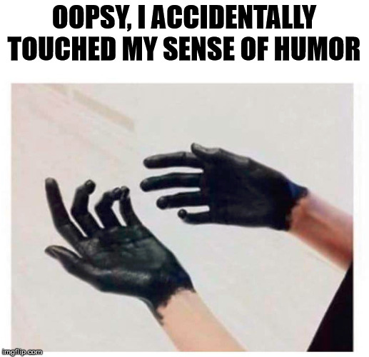 OOPSY, I ACCIDENTALLY TOUCHED MY SENSE OF HUMOR | made w/ Imgflip meme maker