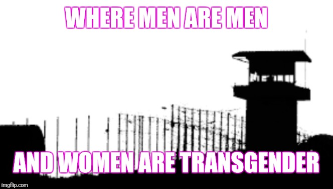 Prison | WHERE MEN ARE MEN AND WOMEN ARE TRANSGENDER | image tagged in prison | made w/ Imgflip meme maker
