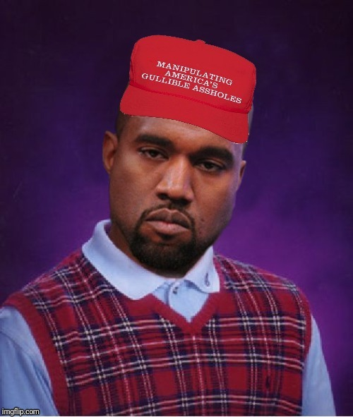 image tagged in kanye west,maga | made w/ Imgflip meme maker