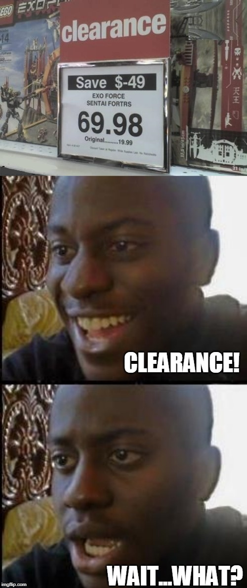$-49 |  CLEARANCE! WAIT...WHAT? | image tagged in disappointed black guy,memes,fail,sign fail,stupid signs | made w/ Imgflip meme maker