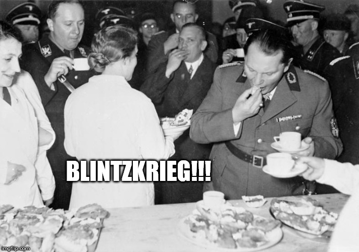 Ganache before Butter!!! |  BLINTZKRIEG!!! | image tagged in hermann,butterball,blintz,krieg,lizzo | made w/ Imgflip meme maker