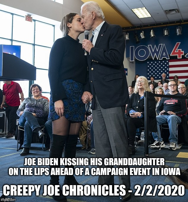 Creepy Joe never misses an opportunity to do the wrong ...