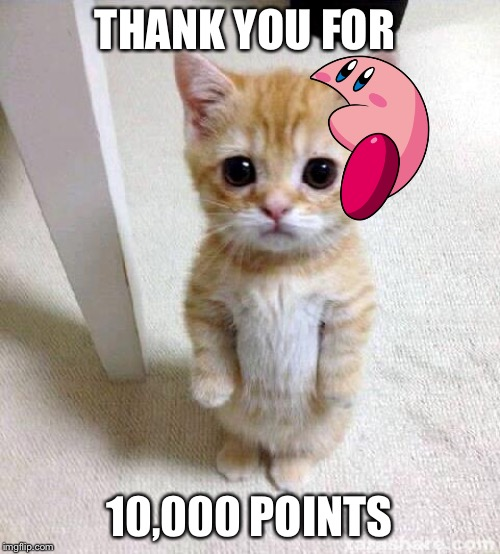 Cute Cat |  THANK YOU FOR; 10,000 POINTS | image tagged in memes,cute cat | made w/ Imgflip meme maker