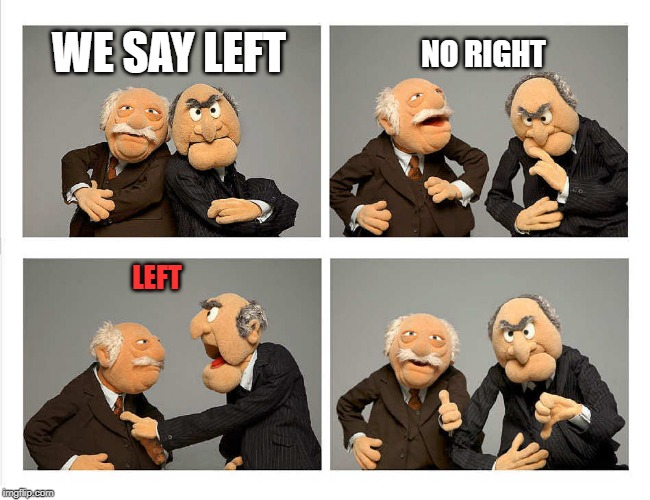 four panel | WE SAY LEFT NO RIGHT LEFT | image tagged in four panel | made w/ Imgflip meme maker