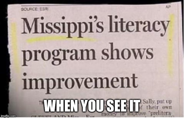 WHEN YOU SEE IT | image tagged in newspaper,when you see it | made w/ Imgflip meme maker