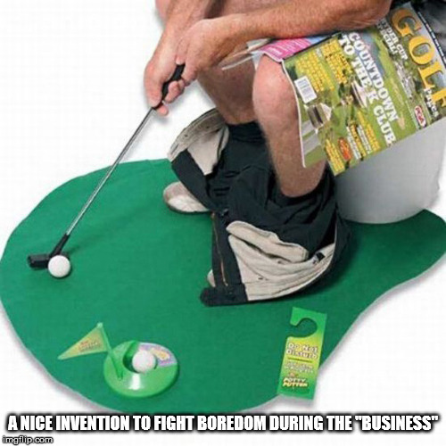 "A NICE INVENTION TO FIGHT BOREDOM DURING THE ""BUSINESS"" 