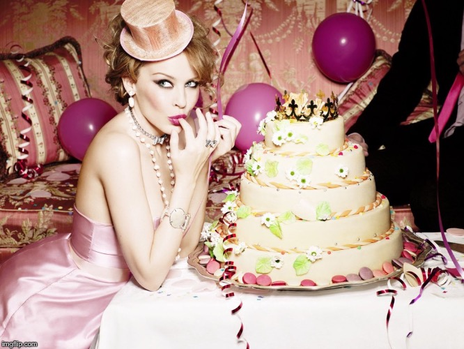 Peachy Kylie With Birthday Cake Imgflip Funny Birthday Cards Online Chimdamsfinfo