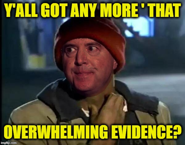 Y'ALL GOT ANY MORE ' THAT OVERWHELMING EVIDENCE? | image tagged in adam schiff yall got any more that | made w/ Imgflip meme maker