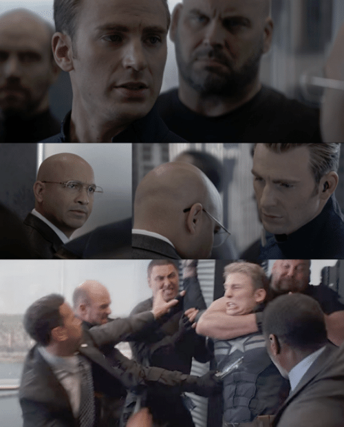 Captain America Elevator Blank Template Imgflip