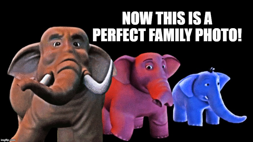 Now this is a perfect family photo! |  NOW THIS IS A PERFECT FAMILY PHOTO! | image tagged in elephant | made w/ Imgflip meme maker