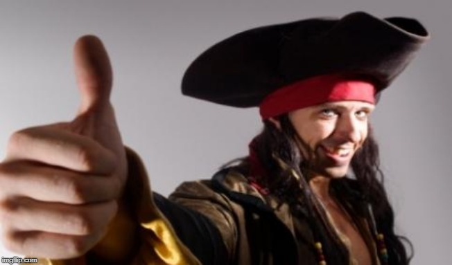 pirate thumbs up | image tagged in pirate thumbs up | made w/ Imgflip meme maker