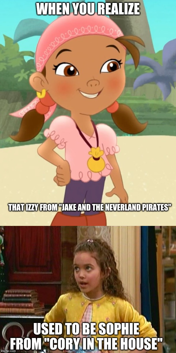 "Or that in the later seasons of JATNP, Jake used to be Luke from ""Jessie"". (No disrespect intended to the late Cameron Boyce.) 