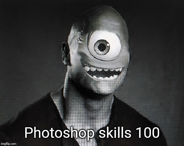 Just a bit of Monday photoshop | Photoshop skills 100 | image tagged in fun,dwayne johnson,monsters inc,photoshop | made w/ Imgflip meme maker