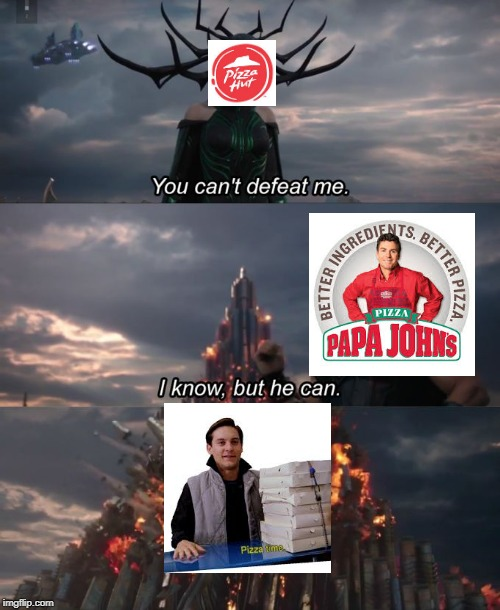 another attempt to out pizza the hut | image tagged in you can't defeat me,memes,funny,out pizza the hut,pizza time | made w/ Imgflip meme maker