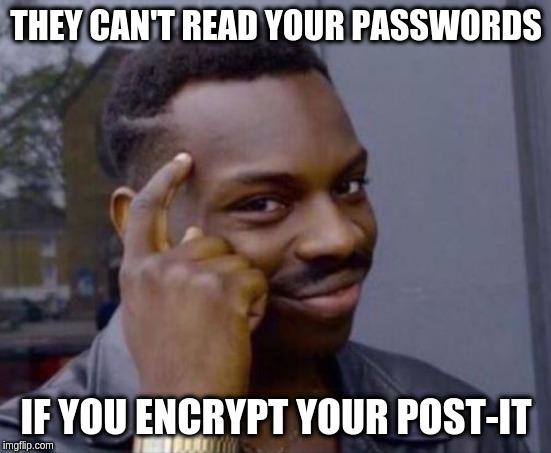 encrypted postit