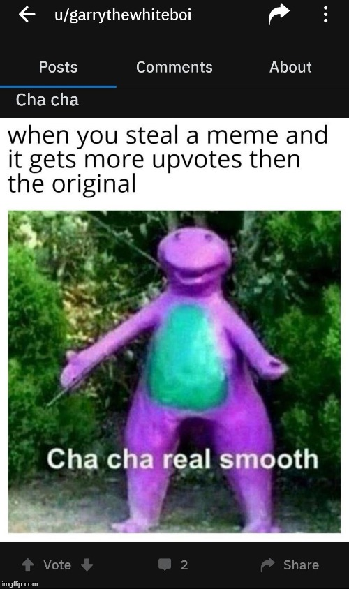 cha cha | image tagged in dinosaur,cha cha real smooth | made w/ Imgflip meme maker