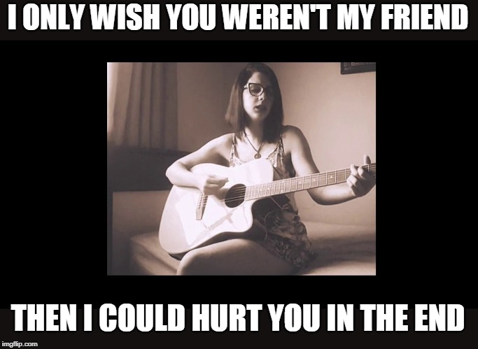 SLIPKNOT COVER |  I ONLY WISH YOU WEREN'T MY FRIEND; THEN I COULD HURT YOU IN THE END | image tagged in cover,slipknot,youtube | made w/ Imgflip meme maker