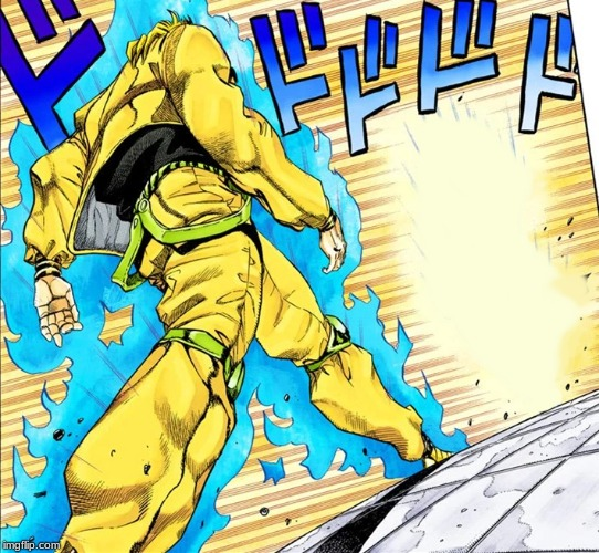 Dio walking | image tagged in dio walking | made w/ Imgflip meme maker