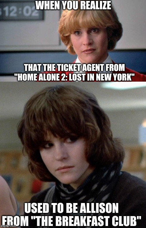 "Hey, didn't Molly Ringwald play an airport employee in ""Not Another Teen Movie""? 