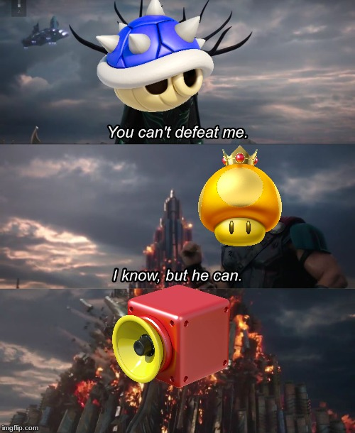 You can't deat me Thor | image tagged in you can't deat me thor,mario kart | made w/ Imgflip meme maker