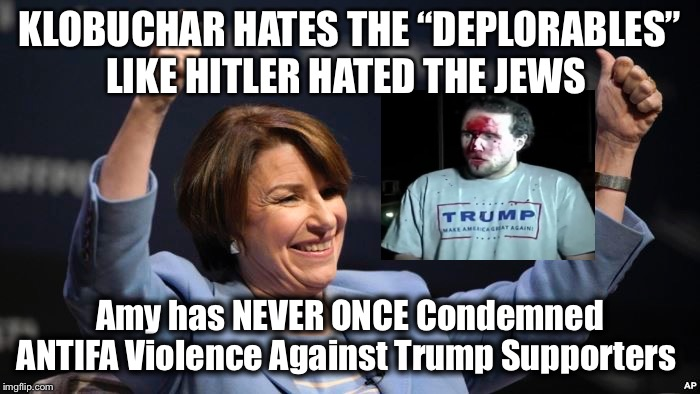 "Antifa Amy Klobuchar HATES the ""DEPLORABLES"" 