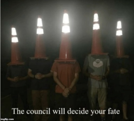 The council will decide your fate | image tagged in the council will decide your fate | made w/ Imgflip meme maker