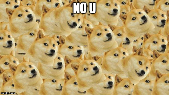 NO U | image tagged in memes,multi doge | made w/ Imgflip meme maker